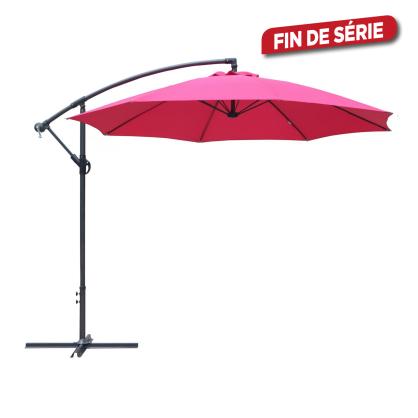 Parasol déporté inclinable avec manivelle taupe Ø 300 cm