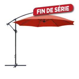 Parasol déporté inclinable avec manivelle paprika Ø 300 cm