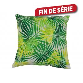 Coussin déhoussable Végétal vert 45 x 45 cm