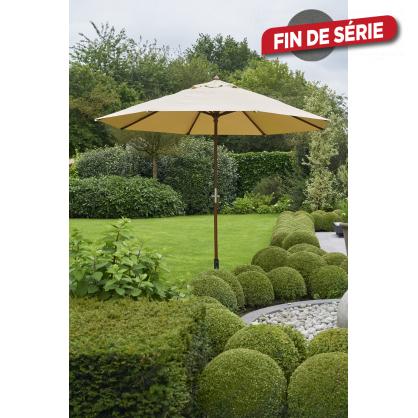 Parasol droit taupe avec manivelle Ø 300 cm