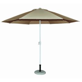 Parasol droit taupe Ø 300 cm