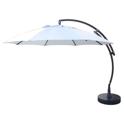 Parasol déporté et inclinable Easy Sun taupe clair Ø 375 cm SUNGARDEN