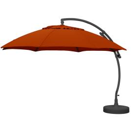Parasol déporté et inclinable Easy Sun terracotta Ø 375 cm SUNGARDEN