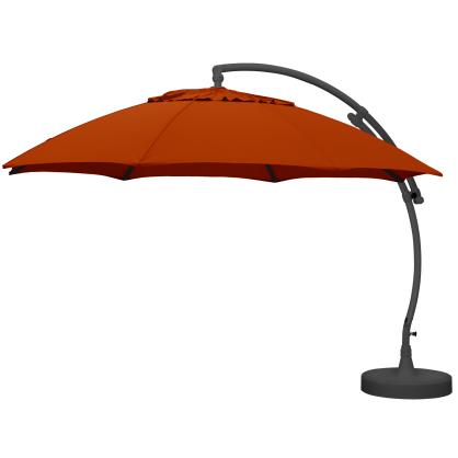 Parasol déporté et inclinable Easy Sun gris clair Ø 375 cm SUNGARDEN