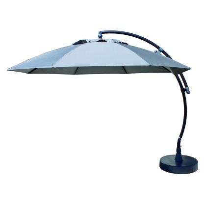 Parasol déporté et inclinable Easy Sun taupe Ø 375 cm SUNGARDEN