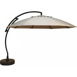 Parasol déporté et inclinable Easy Sun beige Ø 375 cm SUNGARDEN