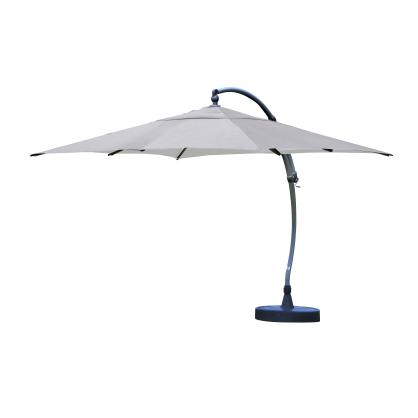 Parasol déporté et inclinable Easy Sun titanium Ø 375 cm SUNGARDEN
