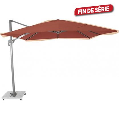 Parasol déporté terra avec manivelle 300 x 300 cm