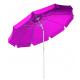 Parasol inclinable gris Ø 270 cm