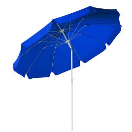 Parasol inclinable bleu Ø 270 cm