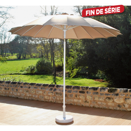 Parasol droit inclinable Pagoda turquoise Ø 270 cm