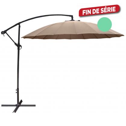 Parasol déporté inclinable Pagoda gris Ø 300 cm