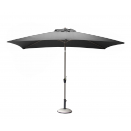 Parasol droit gris avec manivelle 3 x 2 m