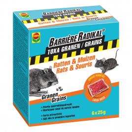 Sachet de céréales anti-rats et anti-souris Barrière Radikal 6 pièces COMPO