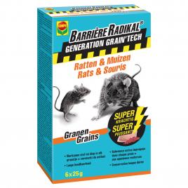 Sachet de grains de blé anti-rats et anti-souris Barrière Radikal 6 pièces COMPO