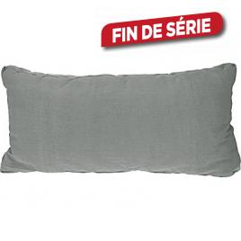 Coussin décoratif gris 65 x 58 x 8 cm