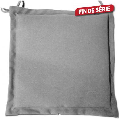 Galette de chaise déperlante grise 40 x 40 x 4 cm