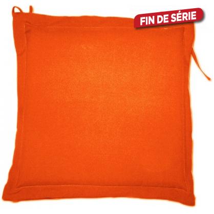 Galette de chaise déperlante orange 40 x 40 x 4 cm
