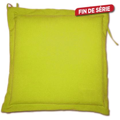 Galette de chaise déperlante framboise 40 x 40 x 4 cm