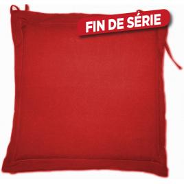 Galette de chaise déperlante rouge 40 x 40 x 4 cm