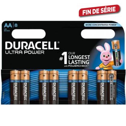 Set de piles alcalines AA Ultra Power 8 pièces DURACELL