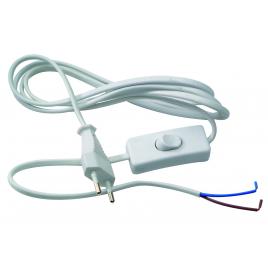 Cordon appareil 2x0.75 + interrupteur 2M PROFILE