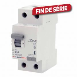Disjoncteur différentiel RX3 40 A 2 pôles 30 mA LEGRAND