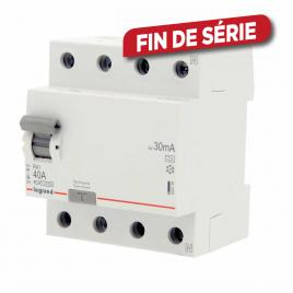 Disjoncteur différentiel RX3 40 A 4 pôles 30 mA LEGRAND
