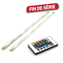 Set de rubans LED rgb avec télécommande 30 cm 2 pièces PROLIGHT