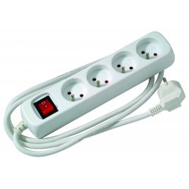 Multiprise avec interrupteur 4 prises blanc PROFILE
