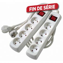 Set de multiprises avec interrupteur 4 prises 2 pièces PROFILE