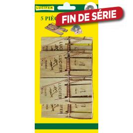 Piège à souris en bois 5 pièces