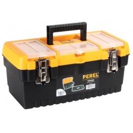 Boîte à outils à fermetures métalliques 41,3 x 21,2 x 18,6 cm PEREL