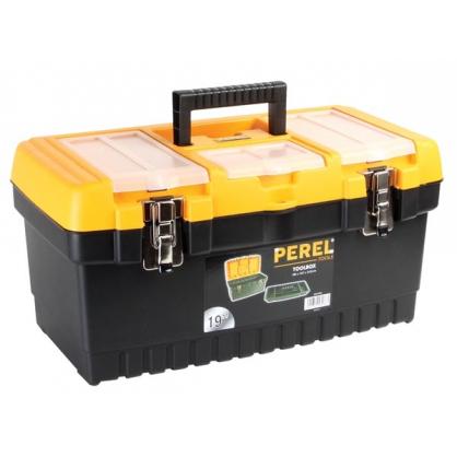 Boîte à outils à fermetures métalliques 48,6 x 26,7 x 24,2 cm PEREL