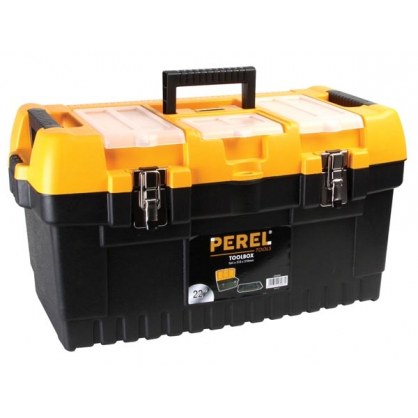 Boîte à outils à fermetures métalliques 56,4 x 31 x 31 cm PEREL