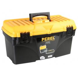 Boîte à outils à fermetures plastiques 53,5 x 27,5 x 28 cm PEREL