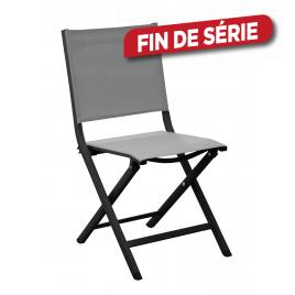 Chaise de jardin pliante Thema graphite et perle