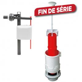 Mécanisme de chasse d'eau à tirette avec robinet flotteur à piston 1ER