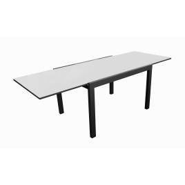 Table de jardin extensible graphite et perle Elyse 200-300 x 100 x 74 cm