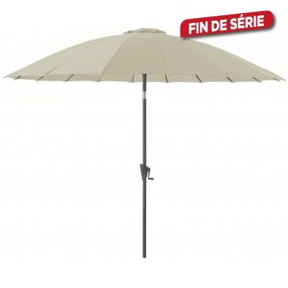 Parasol droit inclinable Pagoda écru Ø 300 cm