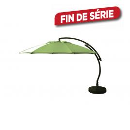 Parasol déporté et inclinable Easy Sun vert gazon Ø 375 cm SUNGARDEN