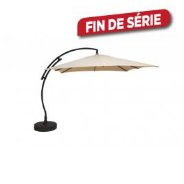 Parasol déporté et inclinable Easy Sun taupe 320 x 320 cm SUNGARDEN