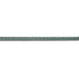 Câble gainé PVC translucide acier dur galvanisé RR 180 kg/mm² au mètre CHAPUIS - 3,5 mm