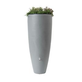 Tonneau à eau de pluie avec bac à plantes 300 L gris GARANTIA