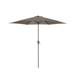 Parasol droit inclinable gris avec manivelle Ø 300 cm