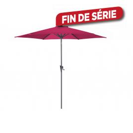 Parasol droit inclinable taupe avec manivelle Ø 300 cm