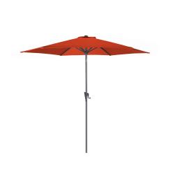 Parasol droit inclinable framboise avec manivelle Ø 300 cm