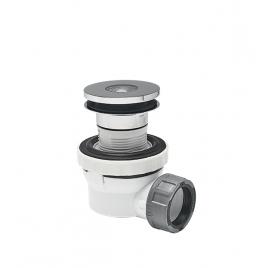 Kit avec siphon utlra-compact XS Pure et bonde pour vasque avec trop-plein intégré WIRQUIN