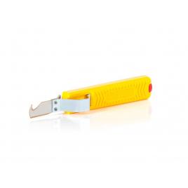 Couteau à dénuder jaune 17 cm
