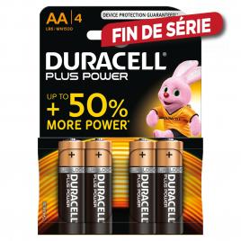 Pile alcaline AA Plus Power 4 pièces DURACELL